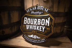 SHD Tin Sign Bourbon Label